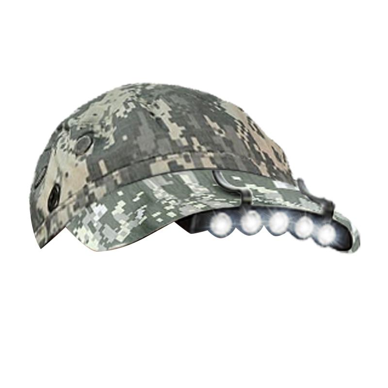 5 LED Cap Light Mini Headlamp Super Bright Headlight Hat Clip-On Head Lamp Light Frontal Flashlight for Night Fishing Running