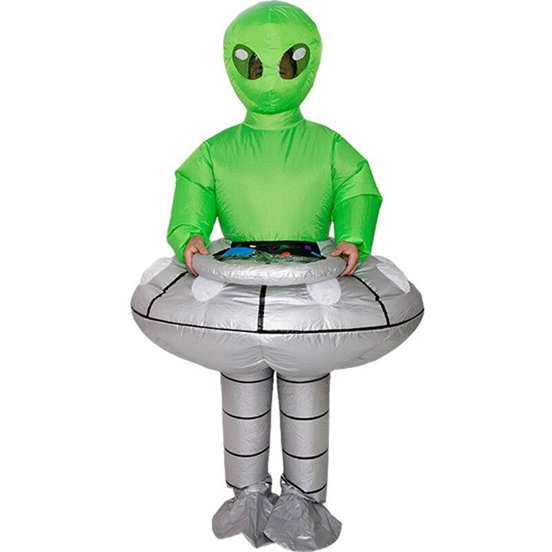 Disfraz inflable de extraterrestre UFO, disfraz de mascota Peluche para niños, adultos, Disfraces de Halloween para mujeres y niños