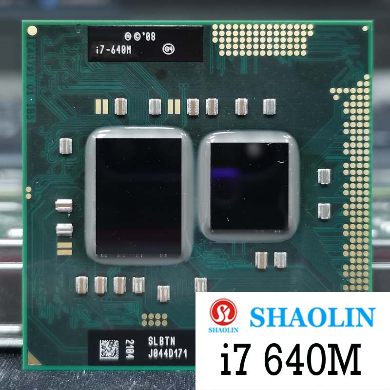 I7-640M i7 640 متر SLBTN 2.8 جيجا هرتز ثنائي النواة رباعية موضوع معالج وحدة المعالجة المركزية 4 واط 35 واط المقبس G1 / rPGA988A الأصلي شاولين النسخة الرسمية