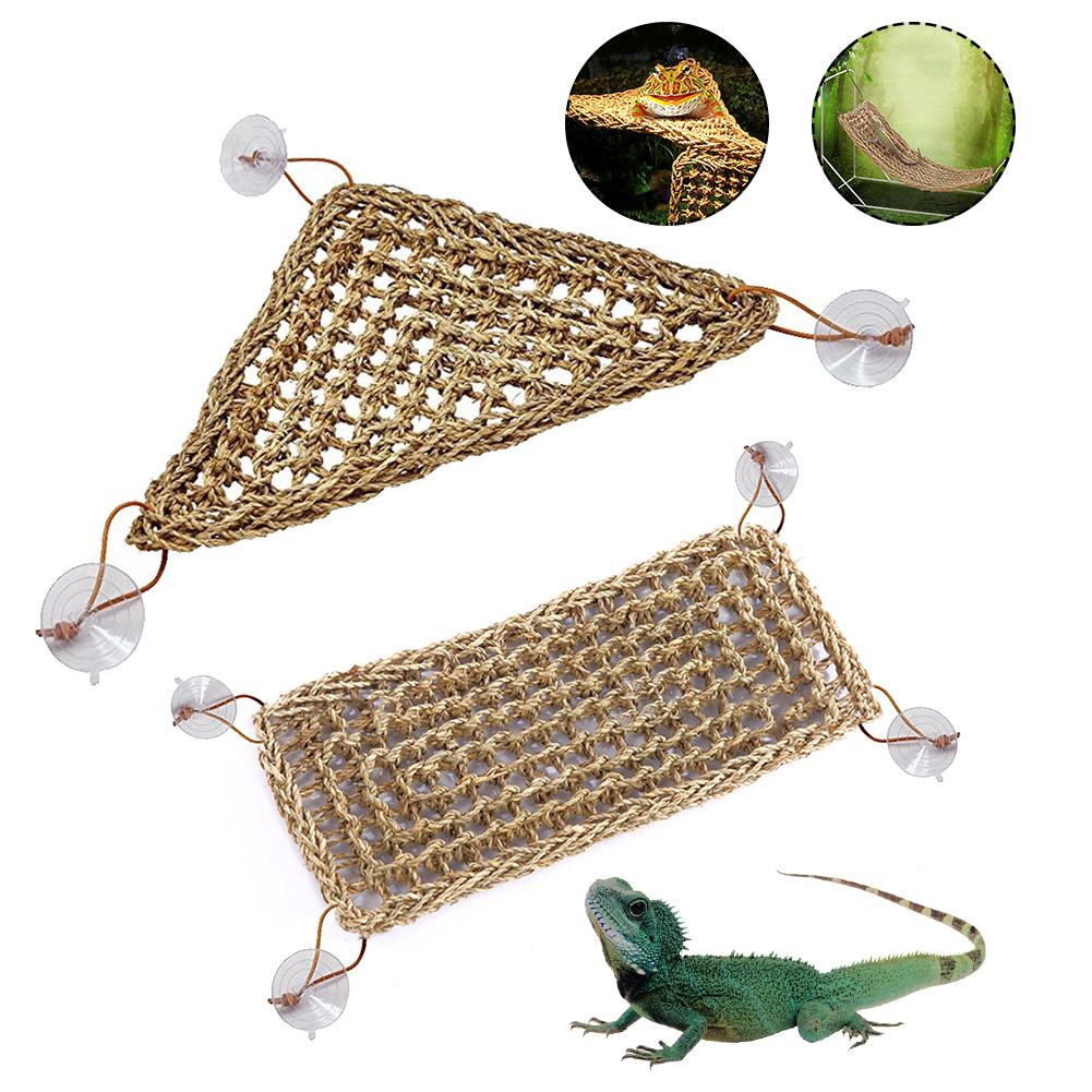 Seaweed Reptile Lizard Hammock Swing Pet Reptile Toy Hanging Bed Mat Small Hermit Crabs Geckos Bed Mats Pet Reptile Accessories