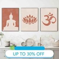 Affiches de peinture sur toile de bouddha Lotus  tableau dart mural minimaliste abstrait pour decoration de salon  decoration de maison