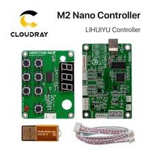 Cloudray lihuiyu m2 nano controlador a laser mãe placa principal + painel de controle dongle b sistema gravador cortador diy 3020 3040 k40