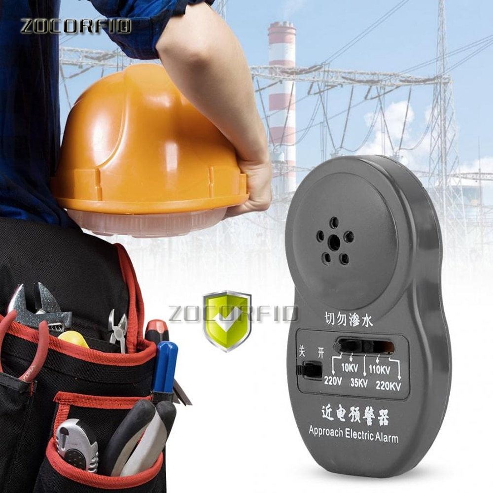 Voltage Leak Detector Approach Electric Alarm 5 Gears Use with The Safety Helmet