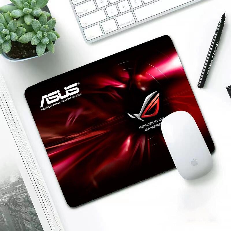 Alfombrilla de ratón pequeña con logo de ASUS para Gaming, alfombrilla para...