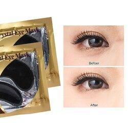 1/5 par de ouro cristal colágeno olho máscara remover círculos escuros anti-envelhecimento rugas olho remendos hidratante cuidados com a pele do olho tslm2