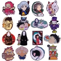 lt737 wholesale japanese anime figure cute enamel pins movie badge brooch backpack bag collar lapel jewelry gifts collection
