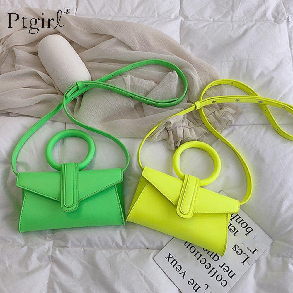 Bandolera de un solo hombro para mujer, con solapa, de Ptgirl, 2019, Casual, Laides, Mini bolso portátil, elegante bolso de la cintura del pecho, bolso