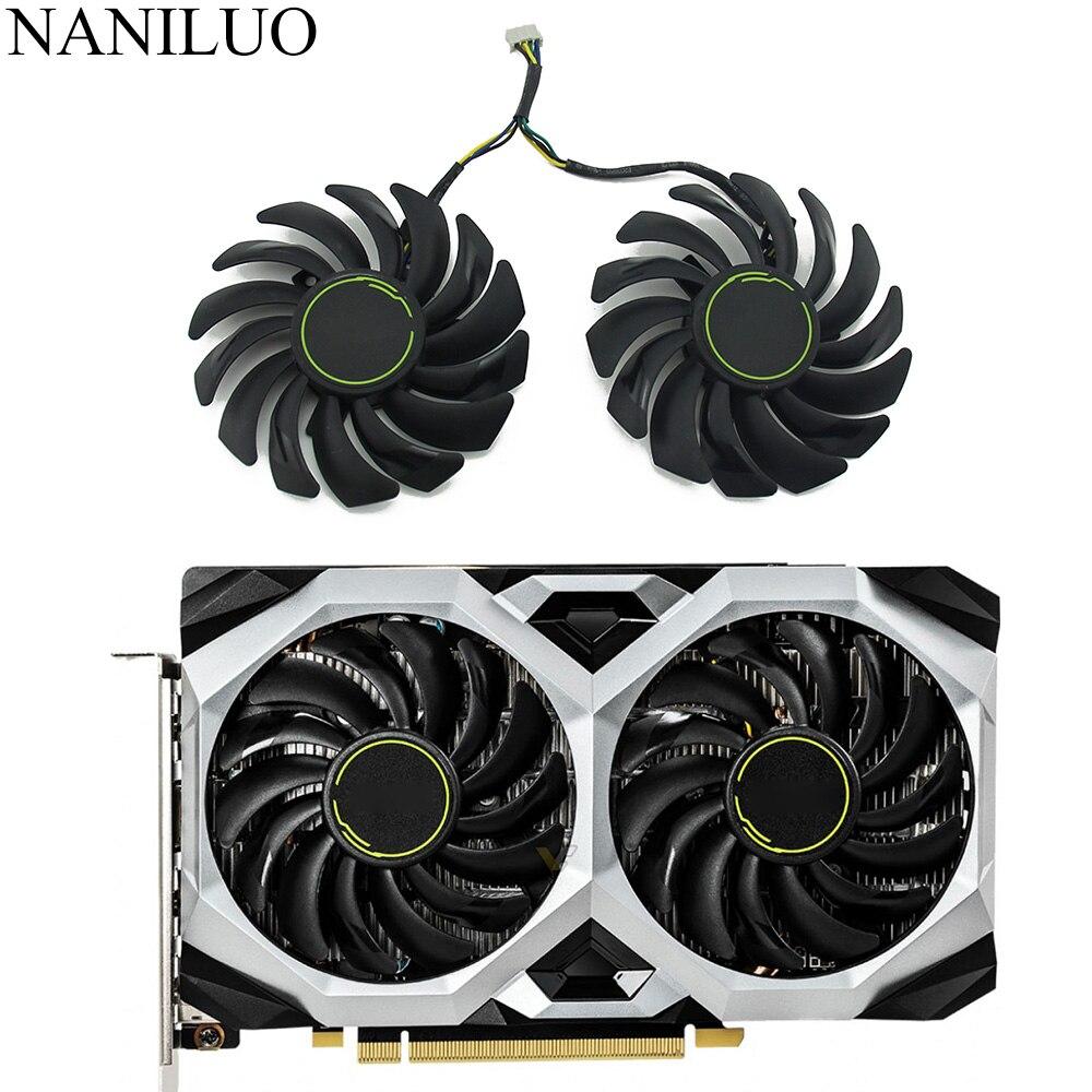 2pcs/lot PLD09210S12HH GTX 1660 1660Ti fan For msi GeForce GTX 1660 SUPER Ti VENTUS XS Graphics Card GPU cooling Fan