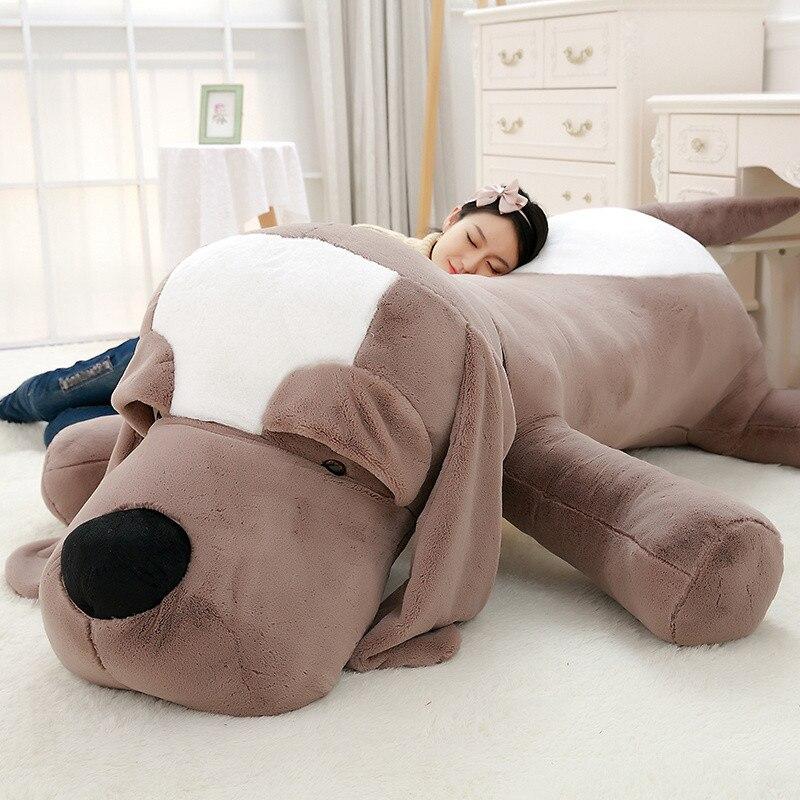 Cute Big Long Ears Dog Plush Toys Soft Kawaii Fashion Dog Toy Stuffed Animals Doll for Kids Birthday Gift Sofa Pillow Cushion