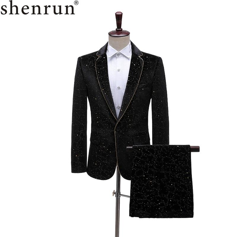 Shenrun-زي عصري للرجال ، ملابس استوديو ، أداء مسرحي ، مخمل ، مأدبة ، حفلة موسيقية ، سهرة ، ديسكو ، مغني ، مستضيف ، كرة
