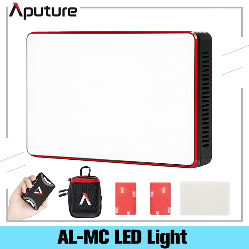 Aputure AL-MC 3200K-6500K المحمولة LED ضوء مع HSI/CCT/FX الإضاءة وسائط الفيديو التصوير الإضاءة AL MC البسيطة RGB ضوء