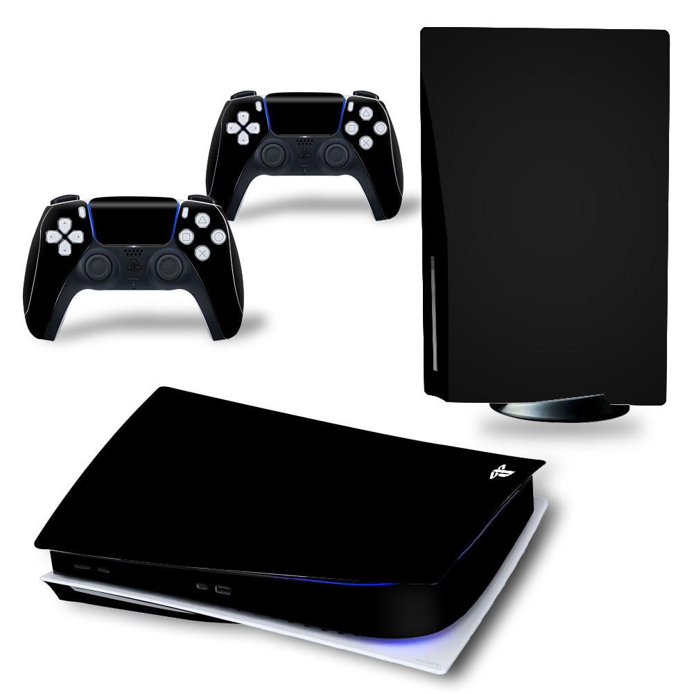 Однотонная одежда кожи Стикеры для PS5 Стандартный дисковое издание наклейка кожного покрова для Игровые приставки 5 консоли и контроллер PS5 ...