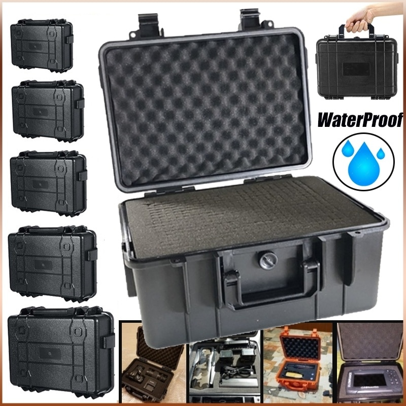 Waterproof Tool Box Impact Resistant Safety Case Suitcase Shockproof Toolbox Equipment Outdoor Protective Case with Pre-cut Foam
