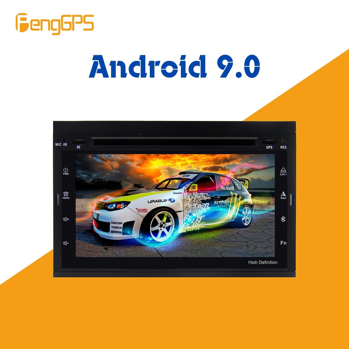 Android 9,0 coche CD reproductor de DVD Radio multimedia para NISSAN/VW/TOYOTA/Peugeot 307 GPS cabeza de navegación unidad reproductor multimedia radio