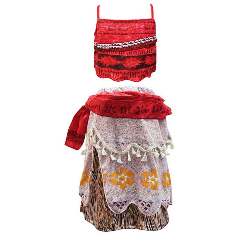 Movie Princess Moana Costume for Kids Dress Cosplay Children Halloween Girls Party