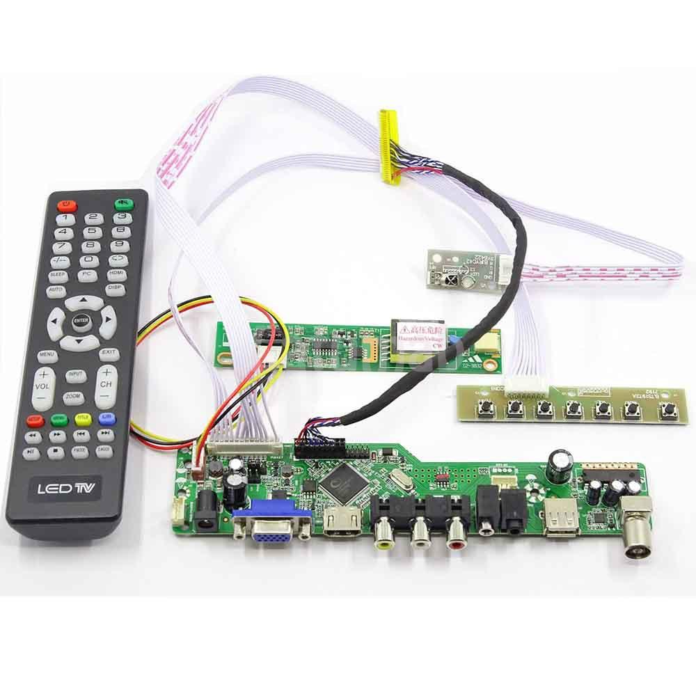 Latumab Kit para LP171WP4 (TL) (N1) TV + HDMI + VGA + USB LCD pantalla LED controlador de envío gratis