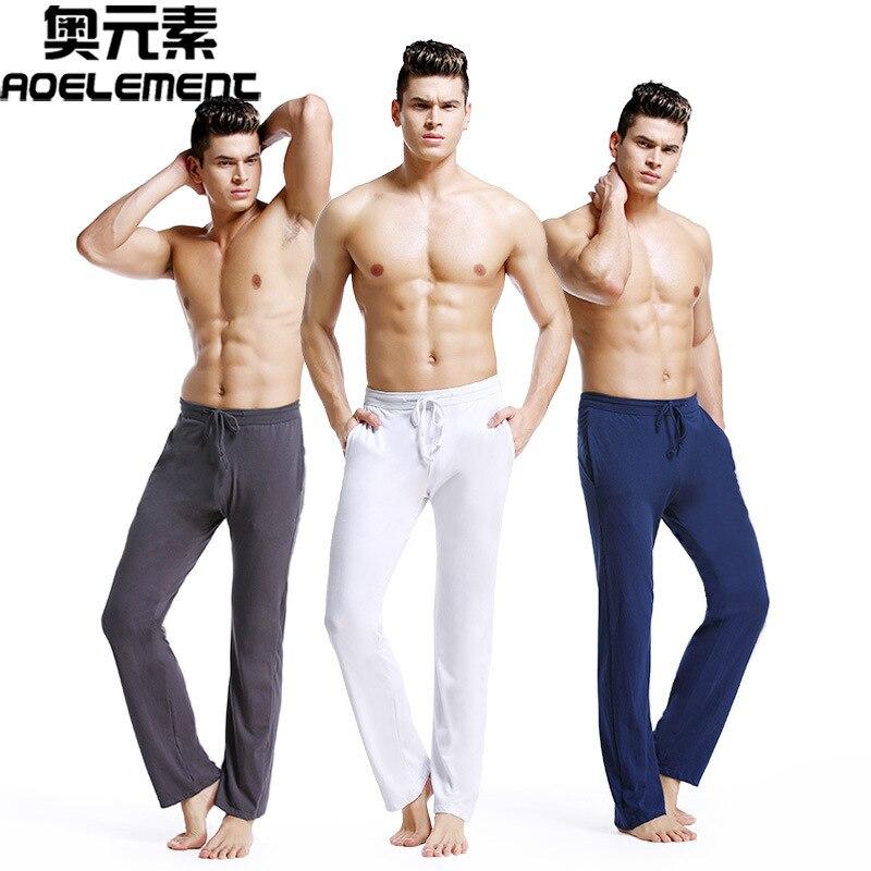 Удобные мужские повседневные домашние штаны, хлопковые мужские Пижамные штаны, большие размеры, свободные спортивные штаны для бега и дома ...