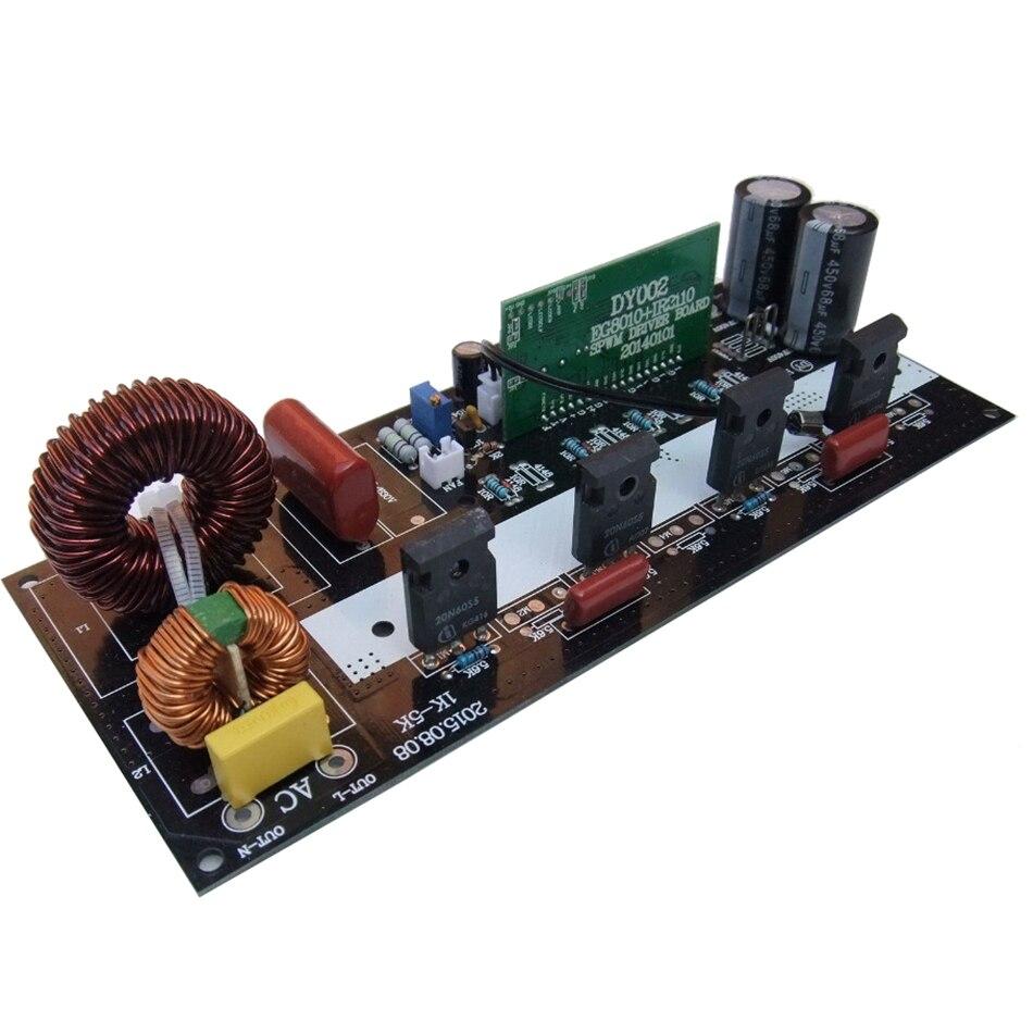 Placa de potencia del inversor de onda sinusoidal pura, 1000W, 2000W, amplificador de poste de onda sinusoidal modificada DIY, tablero trasero de escenario