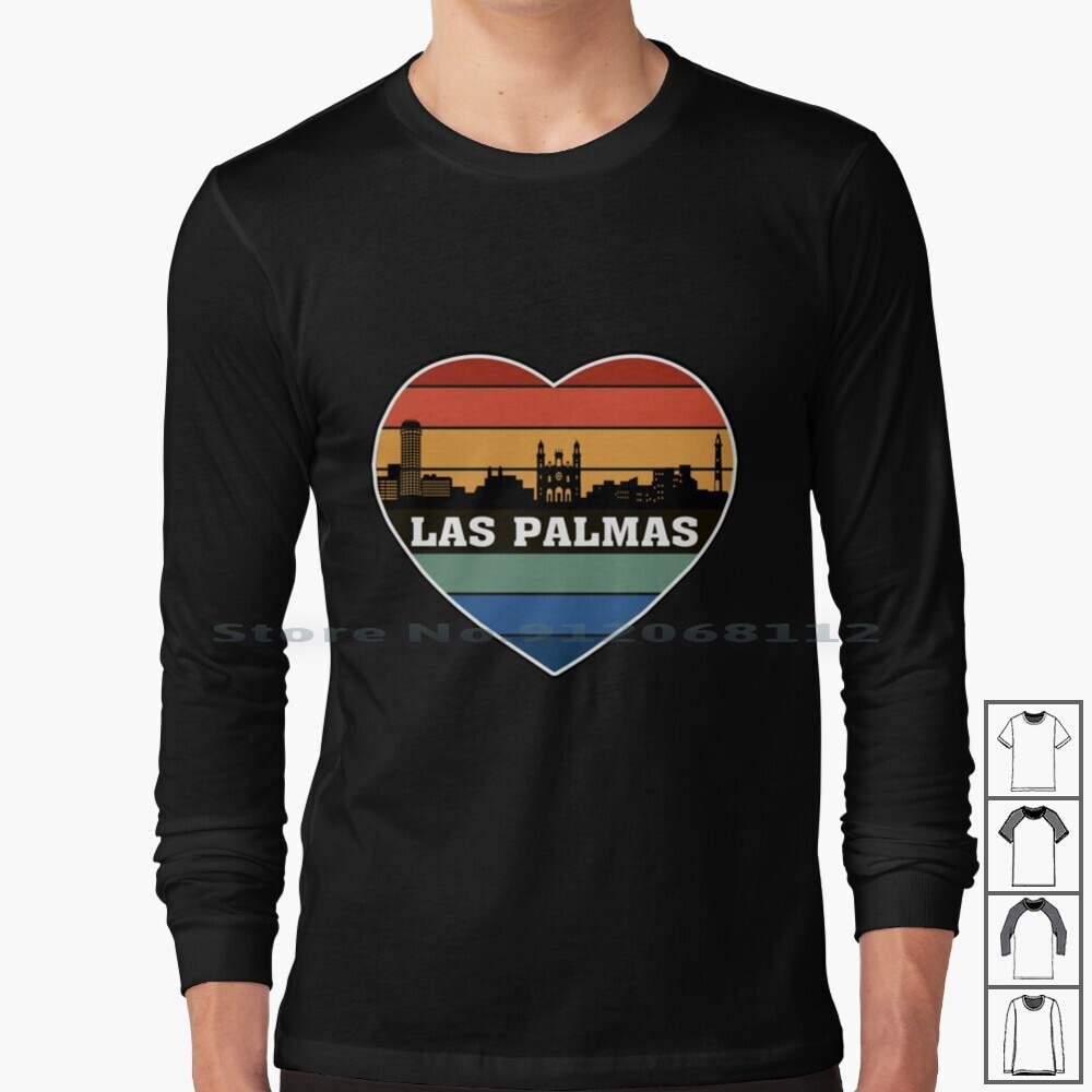 Spain Skyline Silhouette Spanish Flag Travel Souvenir Long Sleeve T Shirt Spain Spanish City Cities Town State Country Flag