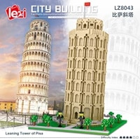 the leaning tower of pisa architecture building set model kit steam construction toy gift for kids and adults 2148 pcs