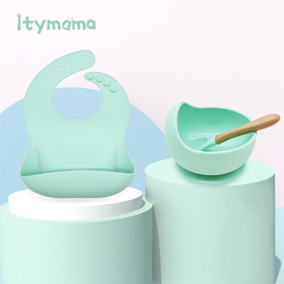 Ensemble de bavettes en Silicone, bol pour enfants, assiette sans BPA, étanche et Anti-brûlure, plat pour bébés