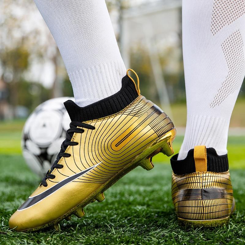 Мужская футбольная обувь, детские футбольные бутсы FG/TF, Дышащие футбольные бутсы, тренировочная футбольная обувь, спортивные кроссовки, раз...