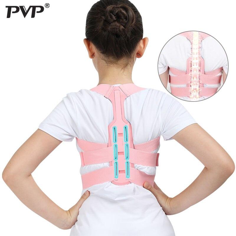 Tirantes para espalda soporte ajustable Corrector de postura columna Lumbar soporte Lumbar cinturón para niños Corset ortopédico