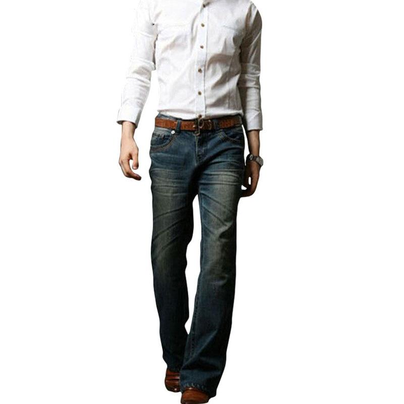 Мужские расклешенные джинсы, расклешенные эластичные облегающие джинсы со средней талией, мужские дизайнерские классические джинсы Modis, ба...