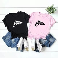 women mommy mens daddy shark t shirt cute funny family cool best dad mom vacation tee for guys