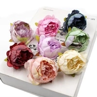 6pcslot 5cm silk peony flower head artificial fake flowers for wedding party home decoration diy wreath scrapbook supplies