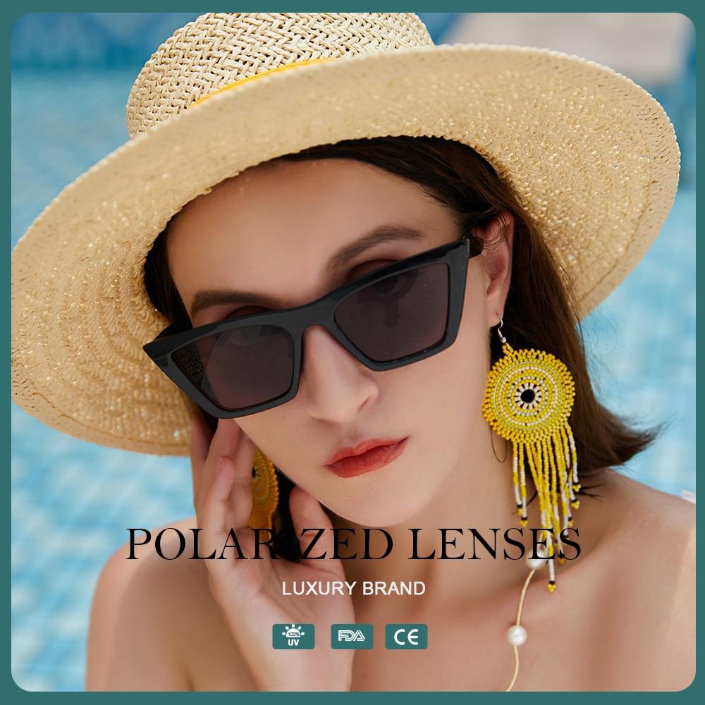 Cat Eye Sunglasses Women Polaroid Vintage Luxury Designer POLAR SUNGLASS Fashion Glasses for Fishing