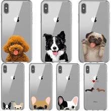 Französisch bulldog Pudel Border Collie Super Nette Corgi silikon Abdeckung Fälle für iphones 11 Pro Max Xs 6 6S 7 8 plus X XR XS MAX