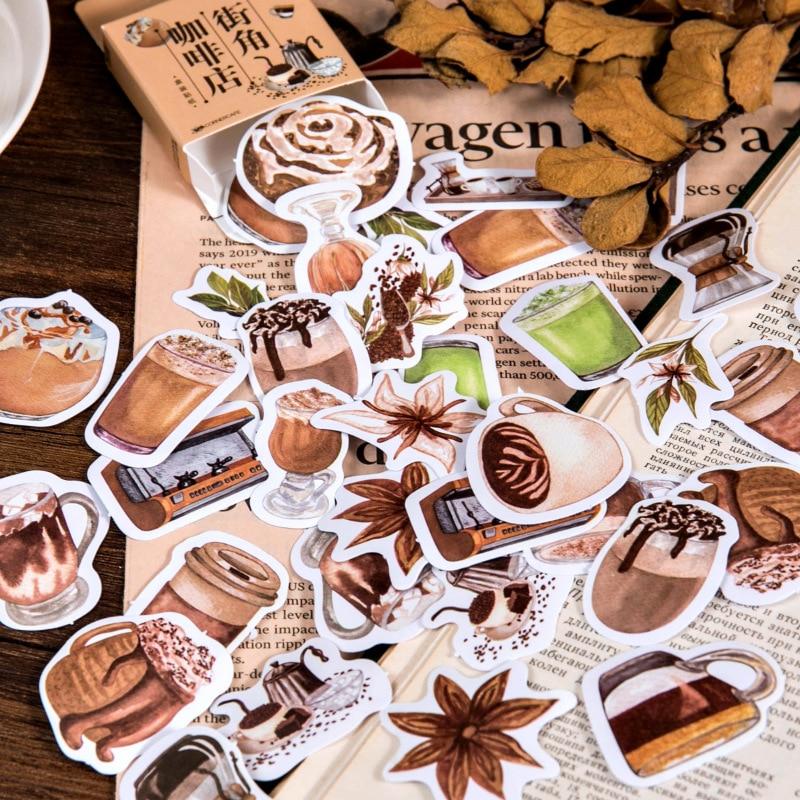 46-unids-pack-cafe-cornercafe-lindo-pegatinas-decorativas-de-album-de-recortes-de-la-etiqueta-engomada-diy-arte-foto-albumes-kawaii