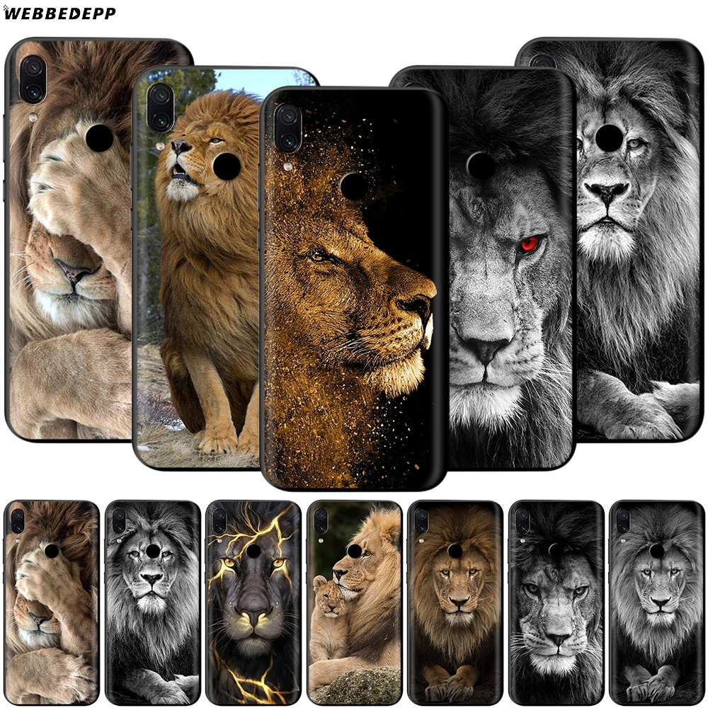 León macho alfa para Xiaomi Redmi 4A 4X4 5X5 5A 6 6A 7 7A S2 nota a K20 Pro Plus primer 8T