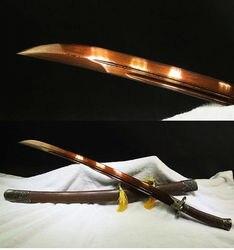 Rosewood damasco lâmina de aço dobrado artesanal chinês mei hua espada qing dao