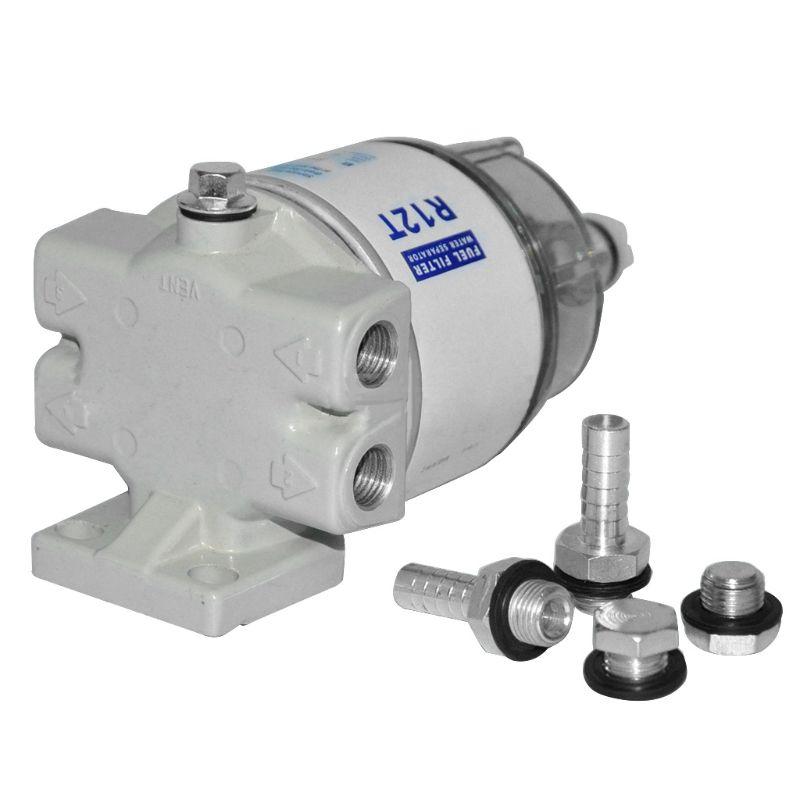 فلتر الوقود والماء لمحرك 12T, ل 120AT ، أجزاء أوتوماتيكية ، كوب فلتر كومبو كامل