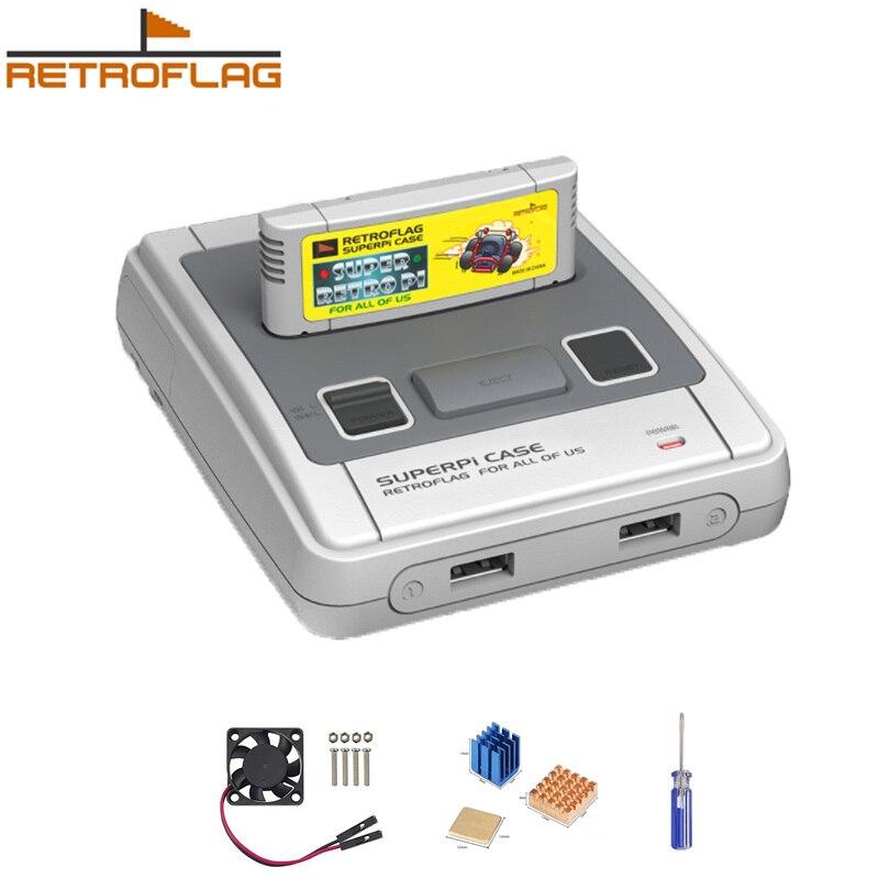 Retroflag SUPERPi CASE-J NESPi Case with Game Cartridge Coolling Fan+heatsink for Raspberry Pi 3B Plus (3B+)/3B