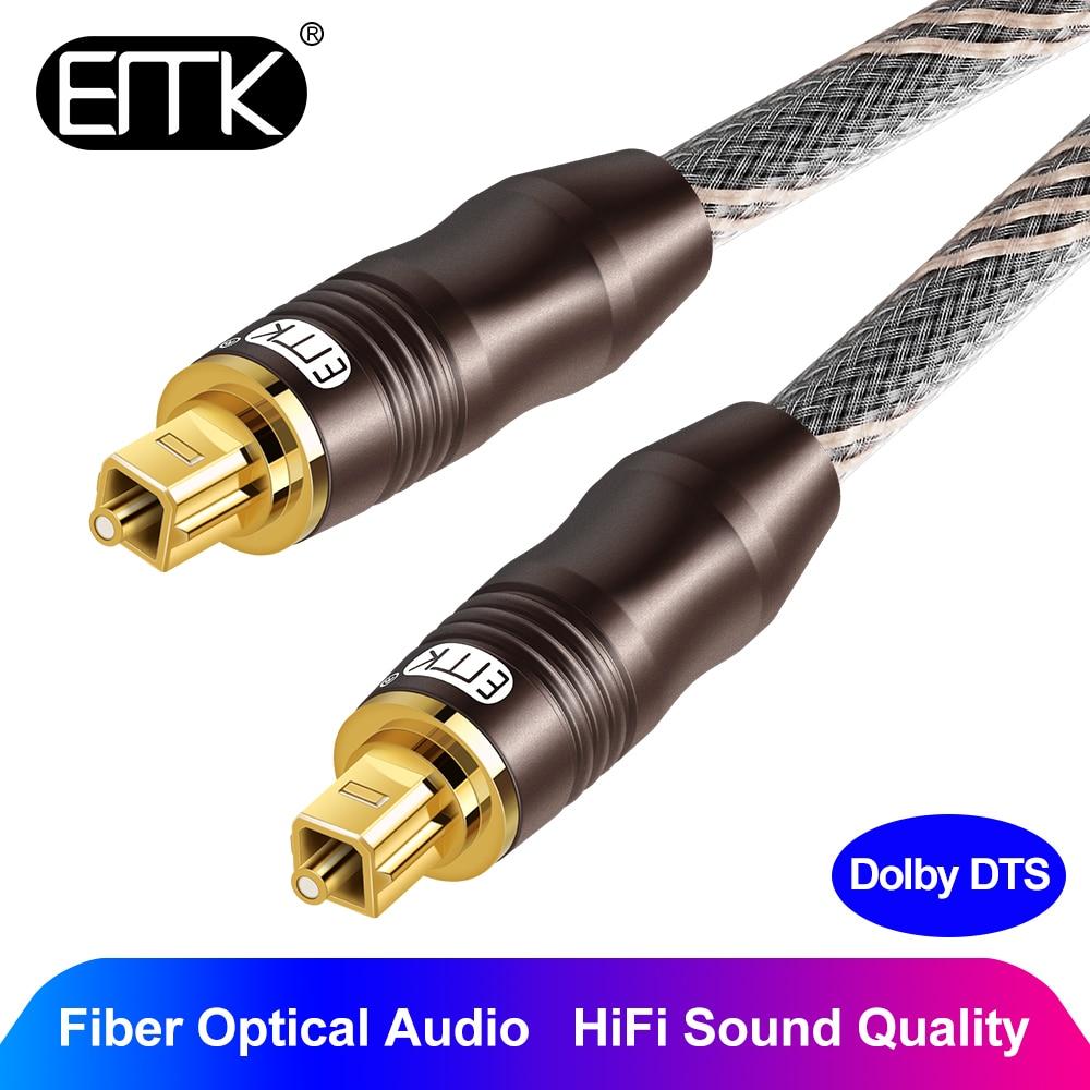 EMK 5.1 Optical Audio Cable 7.1 Digital toslink SPDIF cable braided jacket 1m 2m 3m 5m 10m Soundbar CD DVD TV Speaker Amplifier