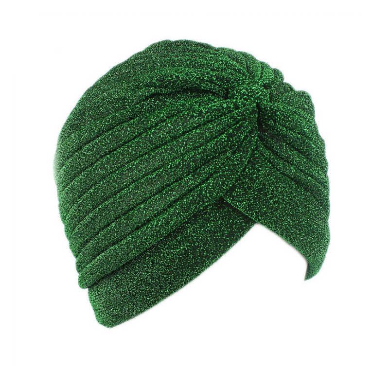 Women Hat Caps Fashion New Gold Shiny Turban Stretchable Soft Bright Hat Indian Style Muslim Thin Hijab Turban Head Wraps Islamic Clothing Aliexpress