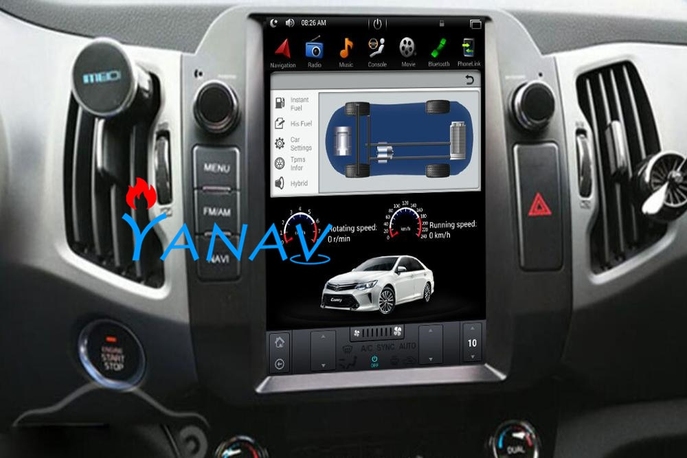 Vertical screen Android Car DVD Multimedia player GPS Navigation For-KIA Sportage R car dvd Radio touch screen gps недорого