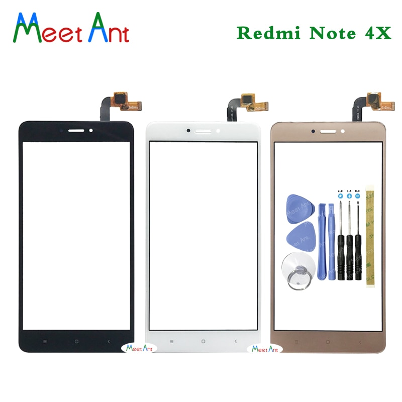 Alta calidad 5,5 para Xiaomi Redmi Note 4/Note 4X Sensor de digitalizador de pantalla táctil Panel de lente de vidrio exterior negro blanco oro
