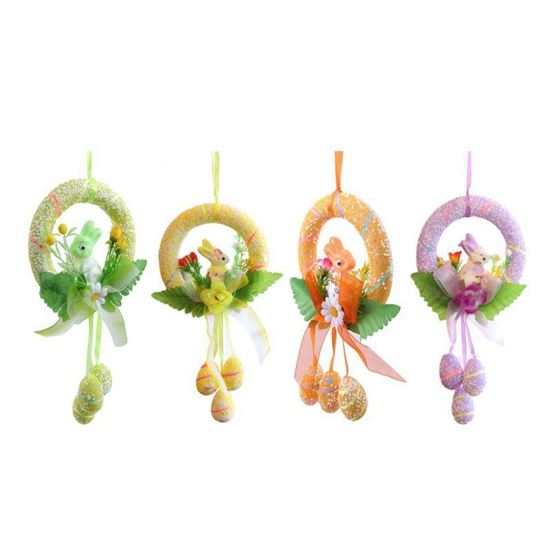 Bonito adorno colgante de conejo para decoración de Pascua cestas de huevos de Pascua felices decoración de fiesta conejito 4 colores nuevo