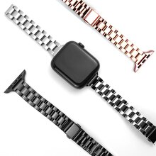 Bracelet for apple watch 7 6 se strap 40mm 44mm slim Stainless Steel band for iwatch series 5 3 38mm
