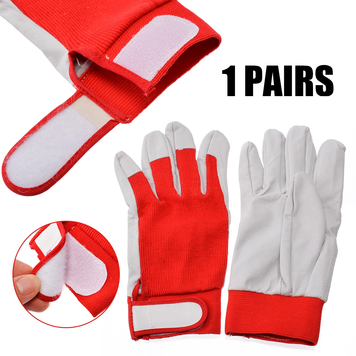 1Pair Finger Weld Gloves Welding Equipment Welding Gloves Heat Shield Cover Safety Guard Protection For Power Tools Accessories