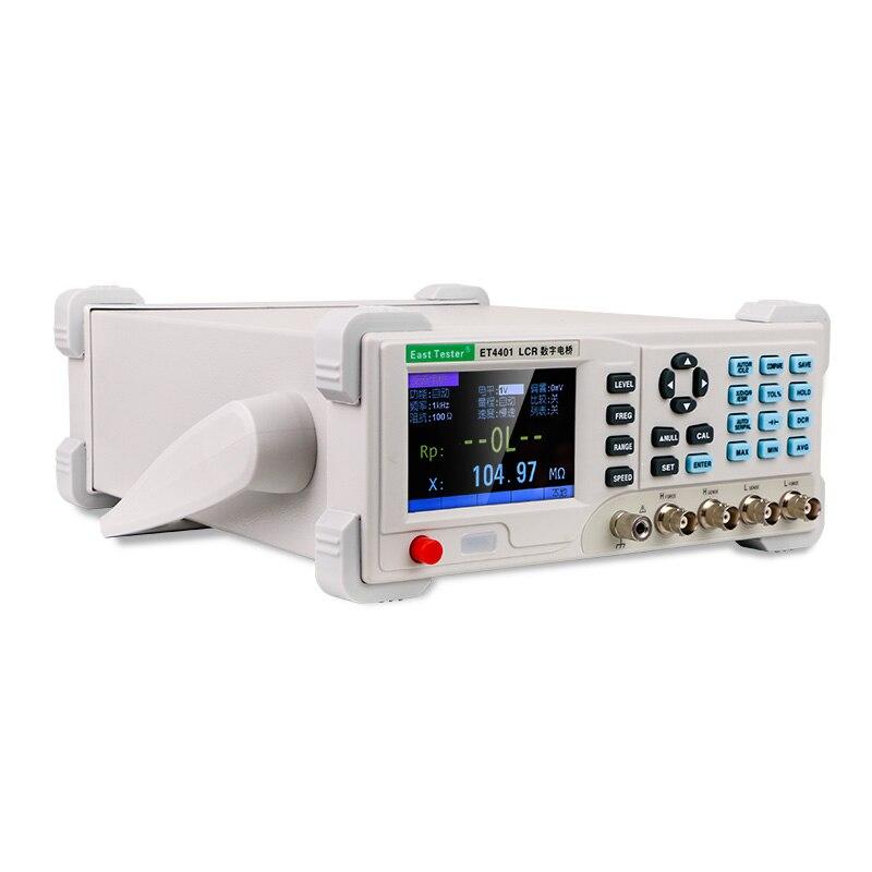 ET4401 Настольный цифровой мостовой Измеритель сопротивления сопротивлению индуктивности L CR мост L CR метр