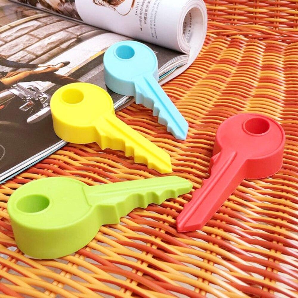 Colores aleatorios creativo de silicona estilo de llave de seguridad tapón de puerta de hogar Decoración de puerta parada de puerta cuña decoraciones para el hogar