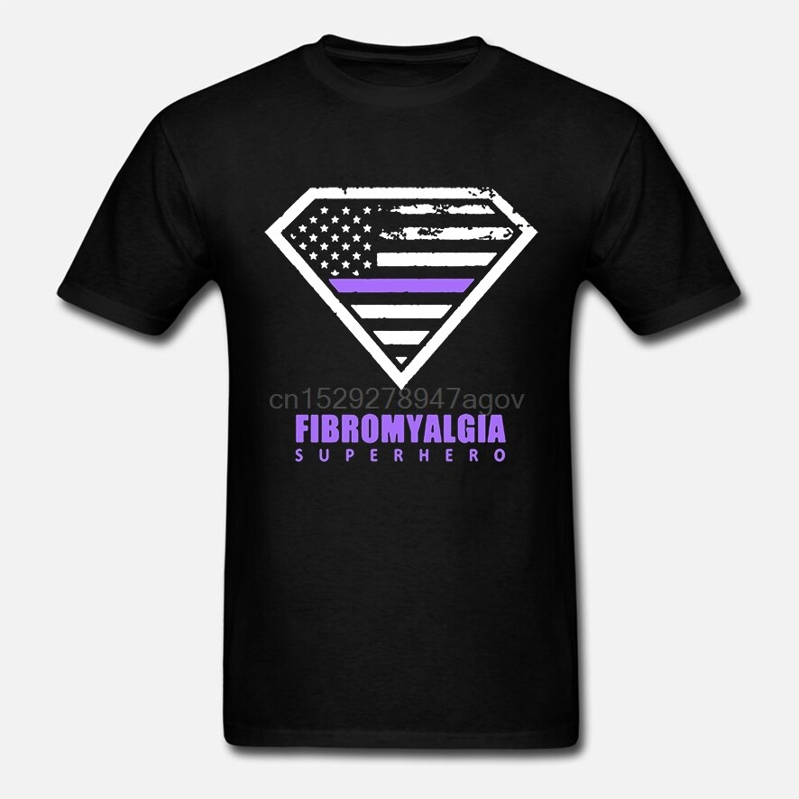Camiseta divertida para hombre Camiseta guay de mujer fibromialgia-Camiseta de superhéroe