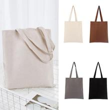 Bolsa de gran capacidad, bolsa de almacenamiento de mezcla de algodón lavable, Eco Freindly, bolsa de compras Natural Universal reutilizable