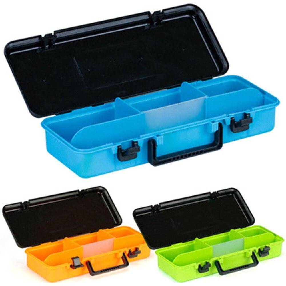 صندوق معالجة الصيد سعة كبيرة الصيد اكسسوارات صندوق تخزين العدة خطاف الصيد إغراء وهمية الطعم صندوق لوازم الصيد أدوات