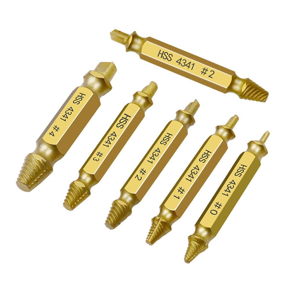 Set di estrattori per viti da 6 pezzi, punte per trapano guida facile - Punta da trapano - Fotografia 3